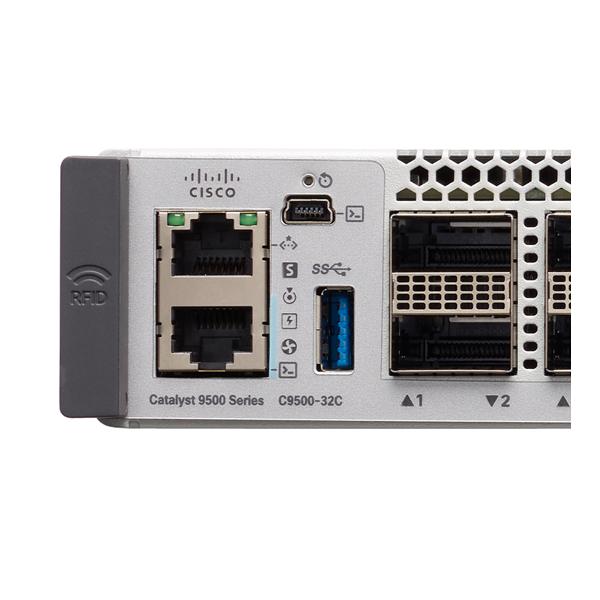 C9500-32C-A   Cisco Catalyst 9500 Series high performance 32-port 100G switch, NW Adv. License  思科9500系列 32个 100G口交换机