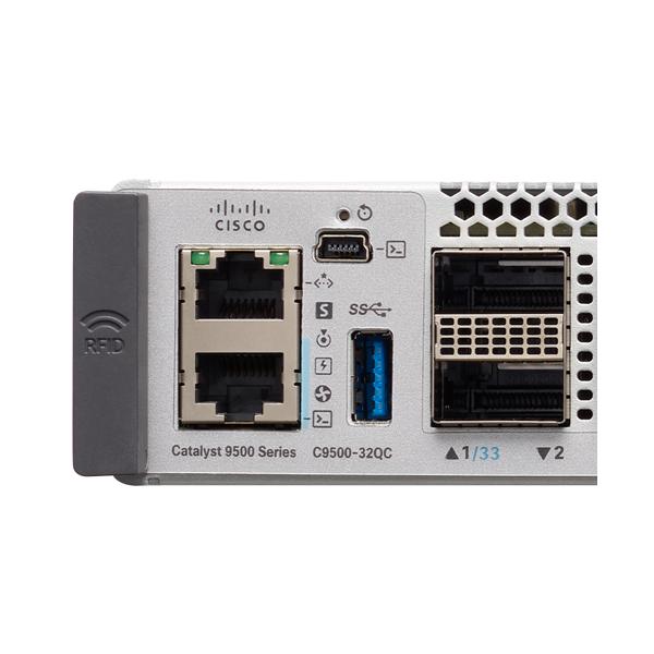 C9500-32QC-E   Cisco Catalyst 9500 Series high performance 32-port 40G switch, NW Ess. License 思科9500系列32口40G 交换机