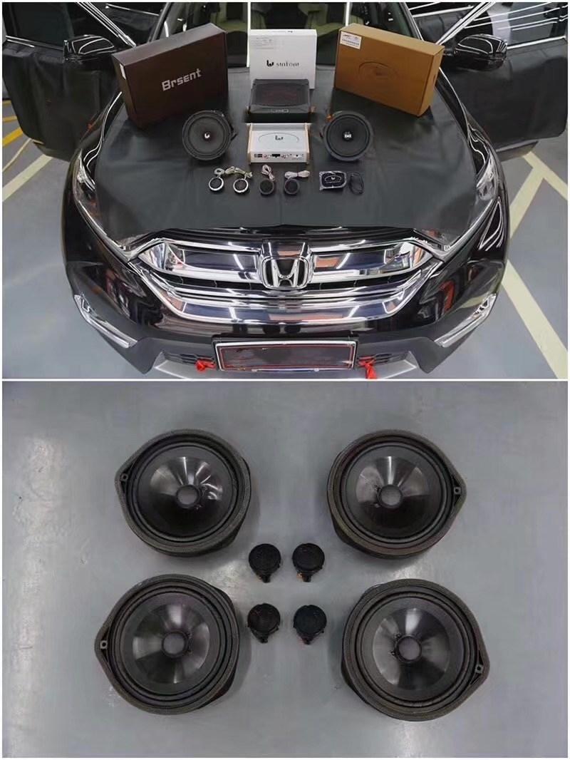 镇江本田CRV汽车改装音响无损升级后的音响效果令人啧啧称赞