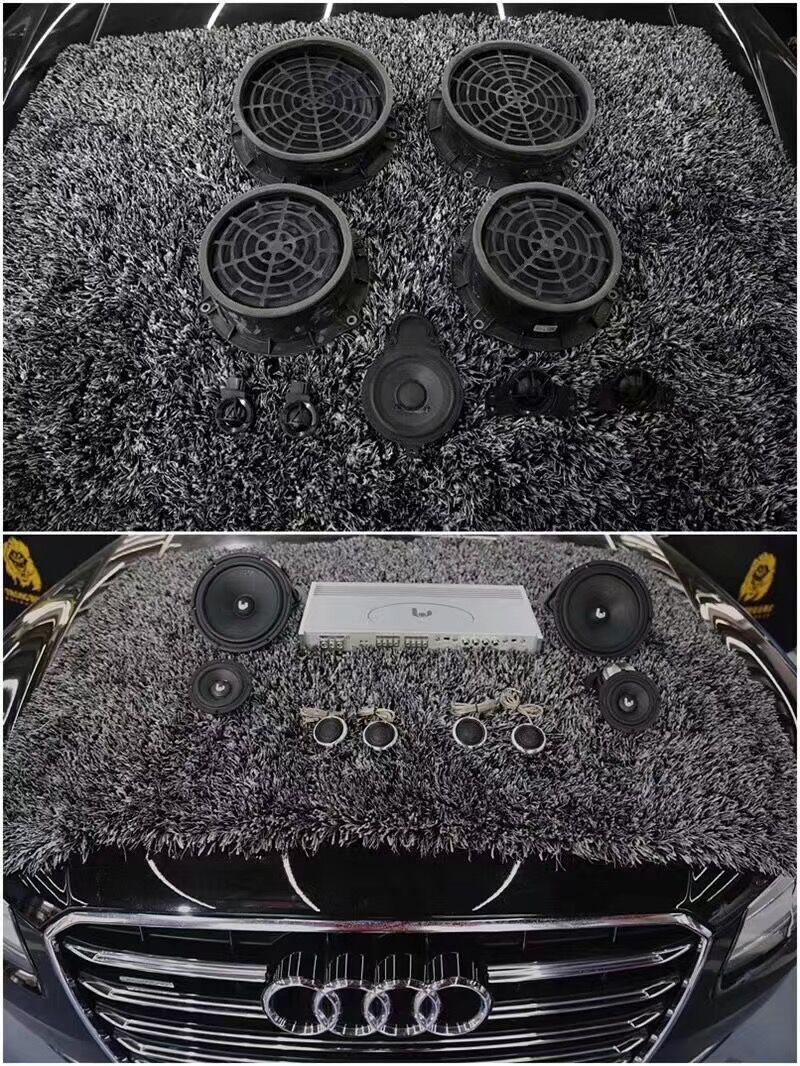 镇江奥迪汽车改装音响A6原厂位置没有喇叭怎么办