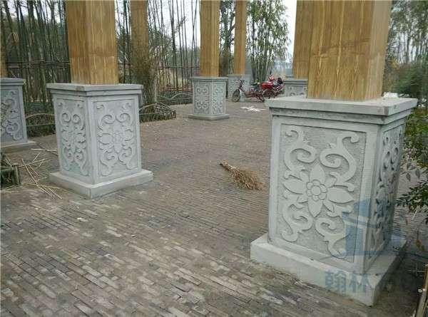柱础石一浮雕柱墩_成都翰林石材保证做工品质