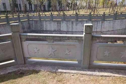 四川青石红星浮雕栏杆_成都翰林石材批发价格
