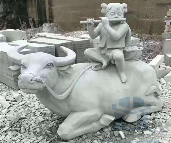 动物石雕一牛_成都翰林石材专业定制批发