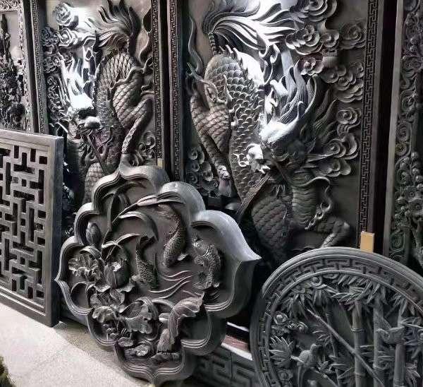 古建装饰砖雕_成都翰林石材细节显实力