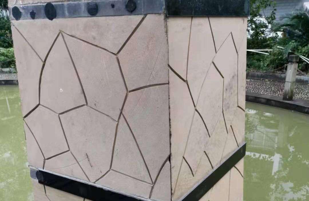 四川机切面碎拼线雕板