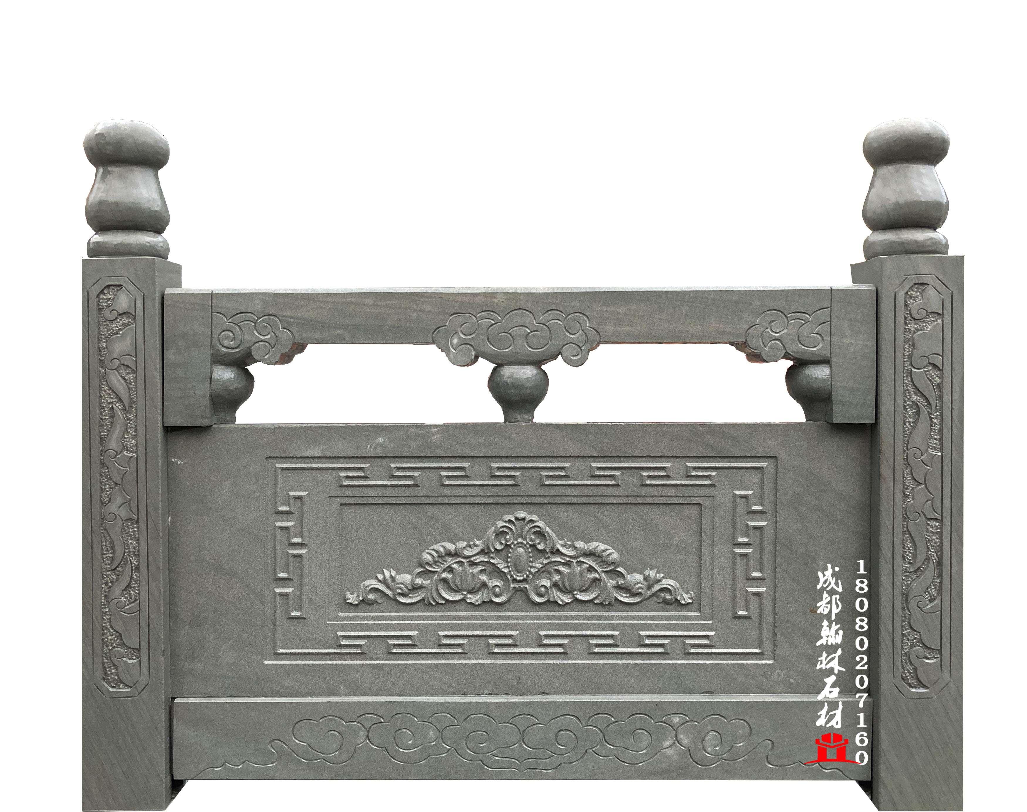 四川青石浮雕栏杆_翰林石材精工制作