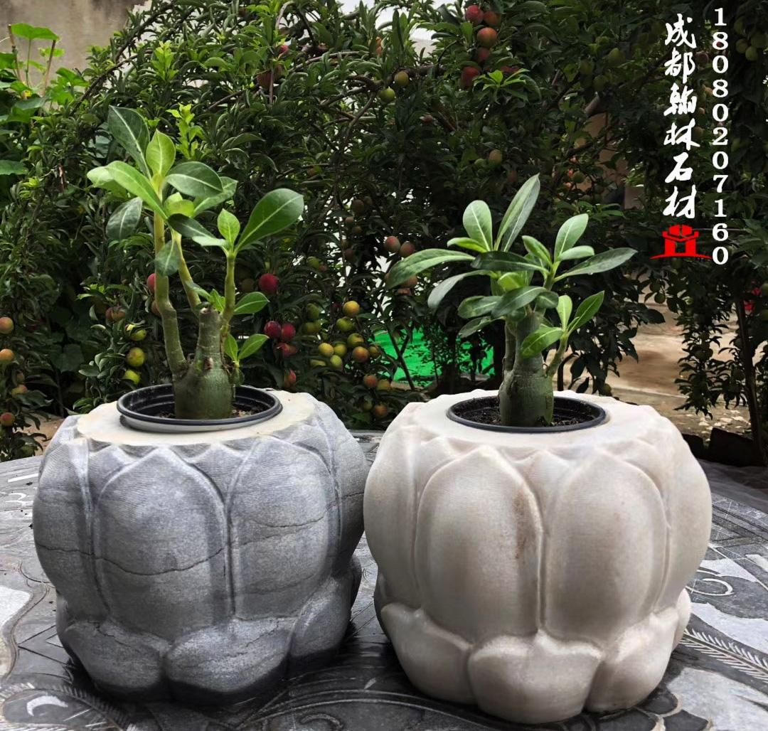 四川石材花盆花台款式多样