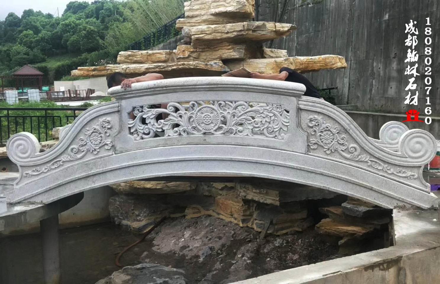 四川花岗石芝麻白小桥保证做工品质