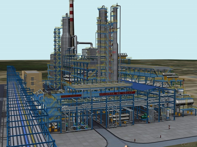 石油模型的污水站模型