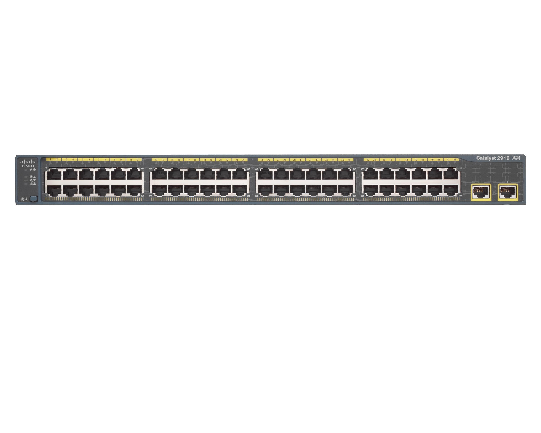 WS-C2918-48TT-CCatalyst 2918 48 10/100 + 2 1000 BT Chinese LAN Lite Image