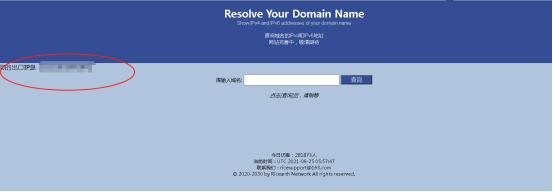 查询出口公网IP地址