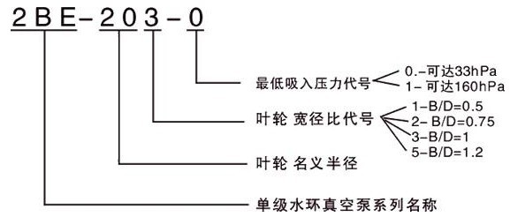 2BE型水环式真空泵的型号意义