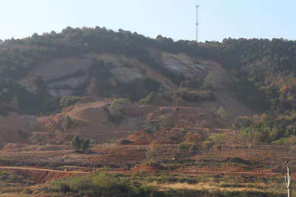 马驿山矿区修复前 受访者供图