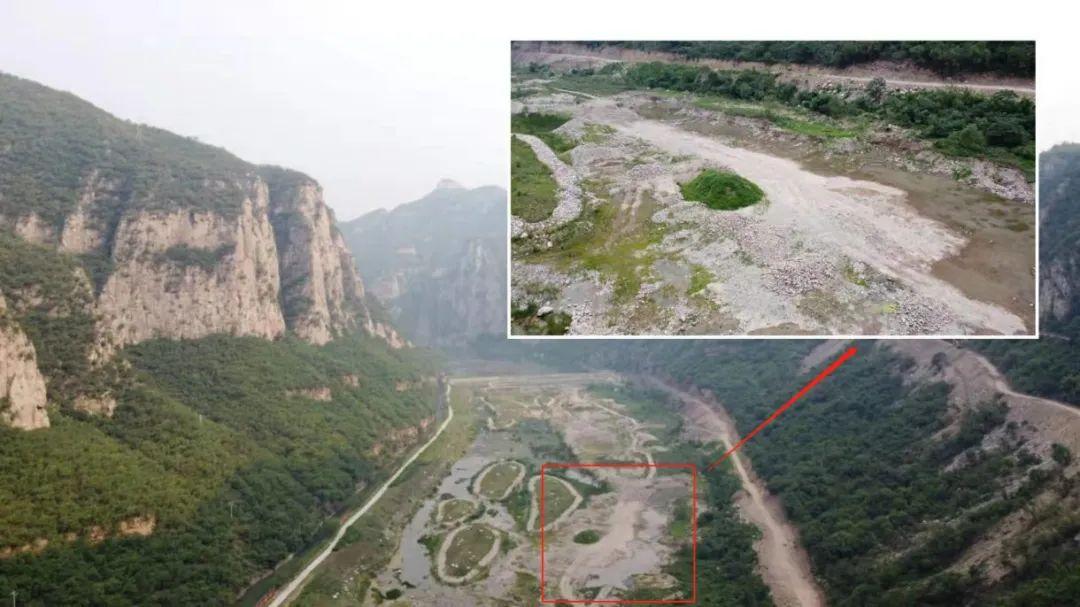 漳河峡谷国家湿地公园内的大坑。人民网 黄钰摄