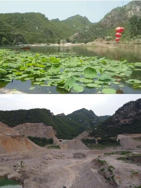 漳河破堰闸附近河段施工前后对比。受访者供图