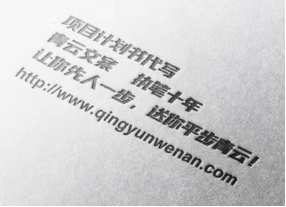 项目计划书_商业计划书_可行性研究报告_青云文案项目策划