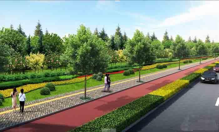江西贵溪工业园区一路绿化工程