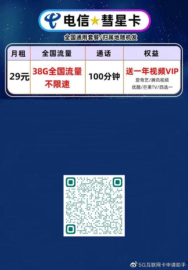 电信彗星卡29元版-ikamax.cn